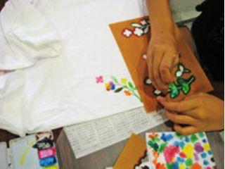 【奄美大島】奄美らしいモチーフの型紙を使った「色を楽しむ型染め体験」
