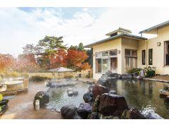 【日帰り温泉 森の湯】箱根外輪山の絶景が見られる温泉、大庭園露天風呂に、落ち着いた雰囲気の内湯。都会の喧騒から離れ、ゆったり箱根の温泉を楽しめます