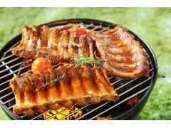 ステーキ、骨付きスペアリブ、丸ごと鳥足 野菜 ホットドッグ 焼きマシュマロ