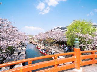 松月乗船場全景~春は桜がお客様をお迎え致します~