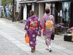 足利の街並みは着物がとても似合います。