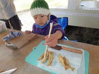 魚の天ぷら、できたていただきまーす!!
