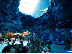 \日本発/流れるアクアリウムプール「フィッシュゴーランド」は、まるでお魚と一緒に泳いでいるかのよう。