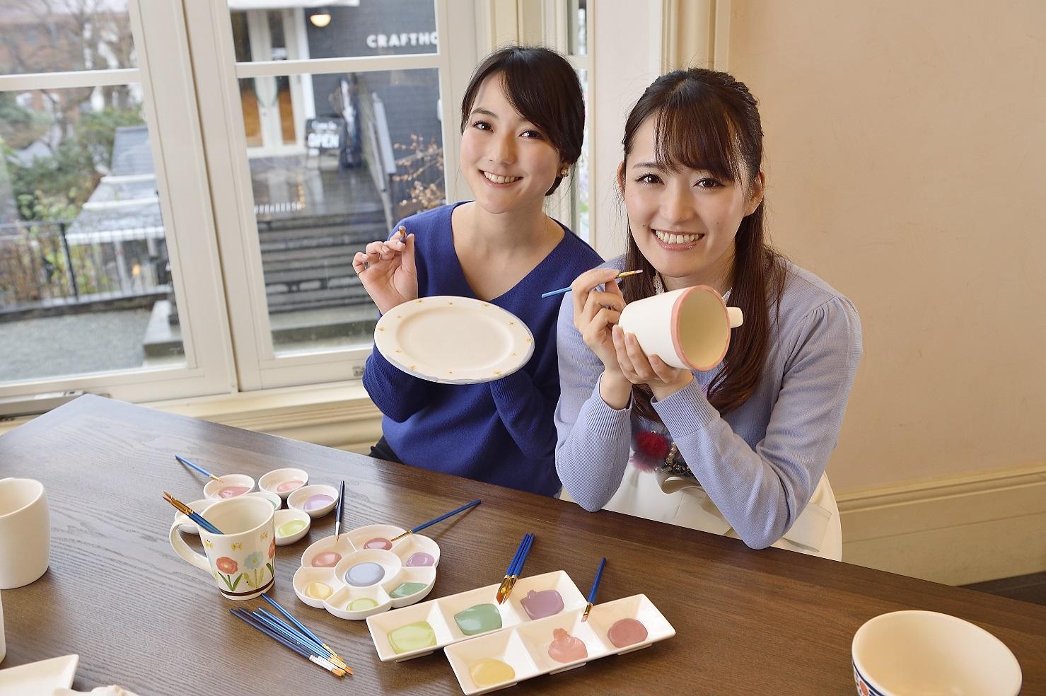 【伊豆高原・ポタリーペインティング体験】当日予約OK!!オリジナルの絵付け陶器を...