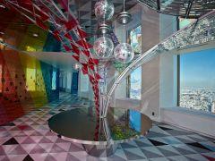 光の噴水「LIGHTファウンテン」♪♪ミラーボールとガラスで光が多彩に変化!