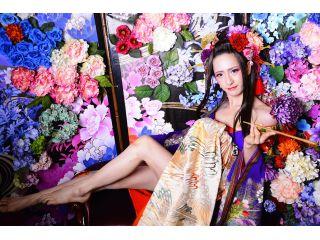 【京都・男性花魁体験】当店一番人気(牡丹プラン)着物と色打掛の両方で撮影!!ヘアメイク・着付け・撮影とすべての技術を結集した夢の時間♪