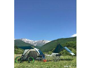 手ぶらでキャンプ♪設営済みレンタルテントフルセット