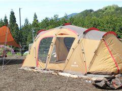 テントの設営イメージ