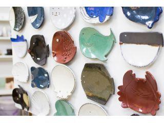 海の生き物皿。どれを作りましょうか?