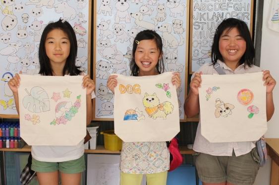【手描きトートバッグ作り】型紙を使ってカンタンぬり絵感覚で楽しめます。赤ちゃんも...
