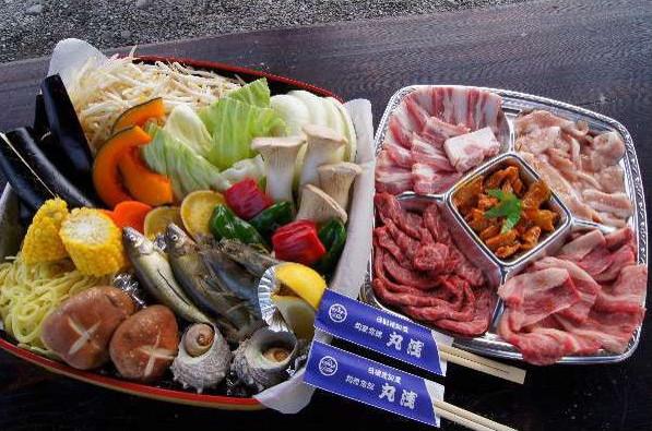 ≪手ぶらで簡単♪≫★☆★ 観音山BBQ ★☆★炭火de美味:和牛、海幸、野菜たち