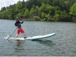 保古の湖でSUP