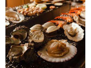 牡蠣・ホンビノス貝・赤海老食べ放題!ホタテもプラスOK