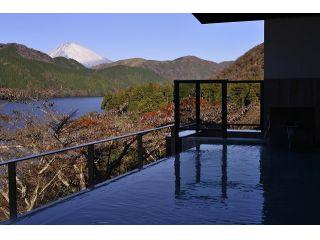紅葉と富士山と芦ノ湖