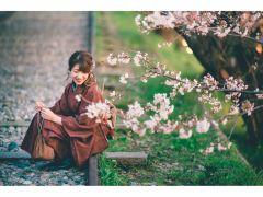 四季を感じる風景と共に…。アンティーク着物がお写真をグッとオシャレにみせてくれます!