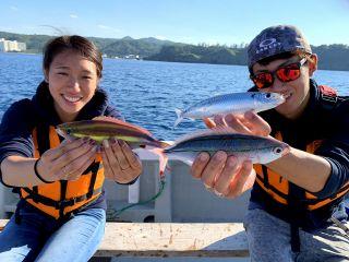 どんな魚が釣れるかワクワク~♪
