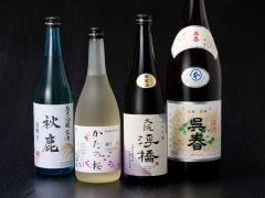 全国各地の日本酒を取り揃えております。