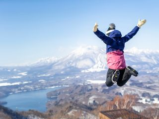 【野尻湖テラス 観光リフト】気軽にリフトで冬山 散策♪