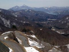 七曲の展望台からは磐梯山や桧原湖も見えます!