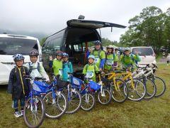 ファミリーサイクリングでの一こま!子供用の自転車も完備しています。
