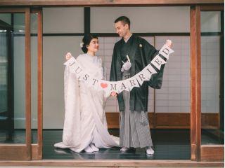カップル限定【婚礼フォトセッションプラン】婚礼衣装+ヘアセット&メイク+町家スタジオ撮影
