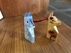ペットのワンちゃんに似せた守り狐を作ってくれたお客様も・・・。
