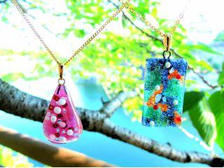 釉薬は基本20色!!透明・半透明 トッピングも多種 組み合わせは無限♪・・オンリーワンが生まれる!