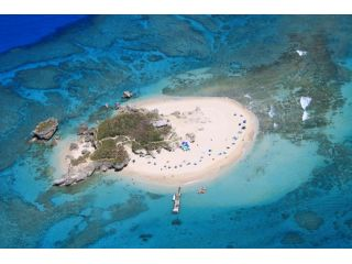 砂浜に囲まれた無人島での日帰りツアー♪