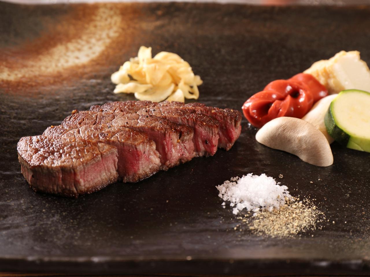【ステーキ割烹の日帰りAランチ】国産牛フィレステーキ100gメイン!全6品の贅沢...