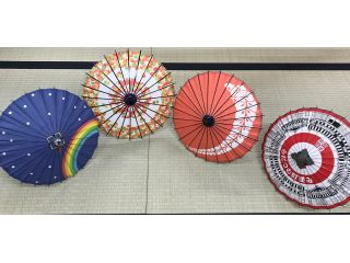 色とりどりのミニ和傘