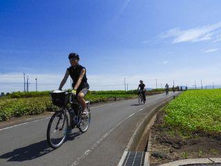 【山陰・大根島・サイクリング】360°眺望の島の暮らしに触れる旅♪ブラだいこんサイクリングガイドツアー ★カップル、ファミリー、女子旅も大歓迎☆