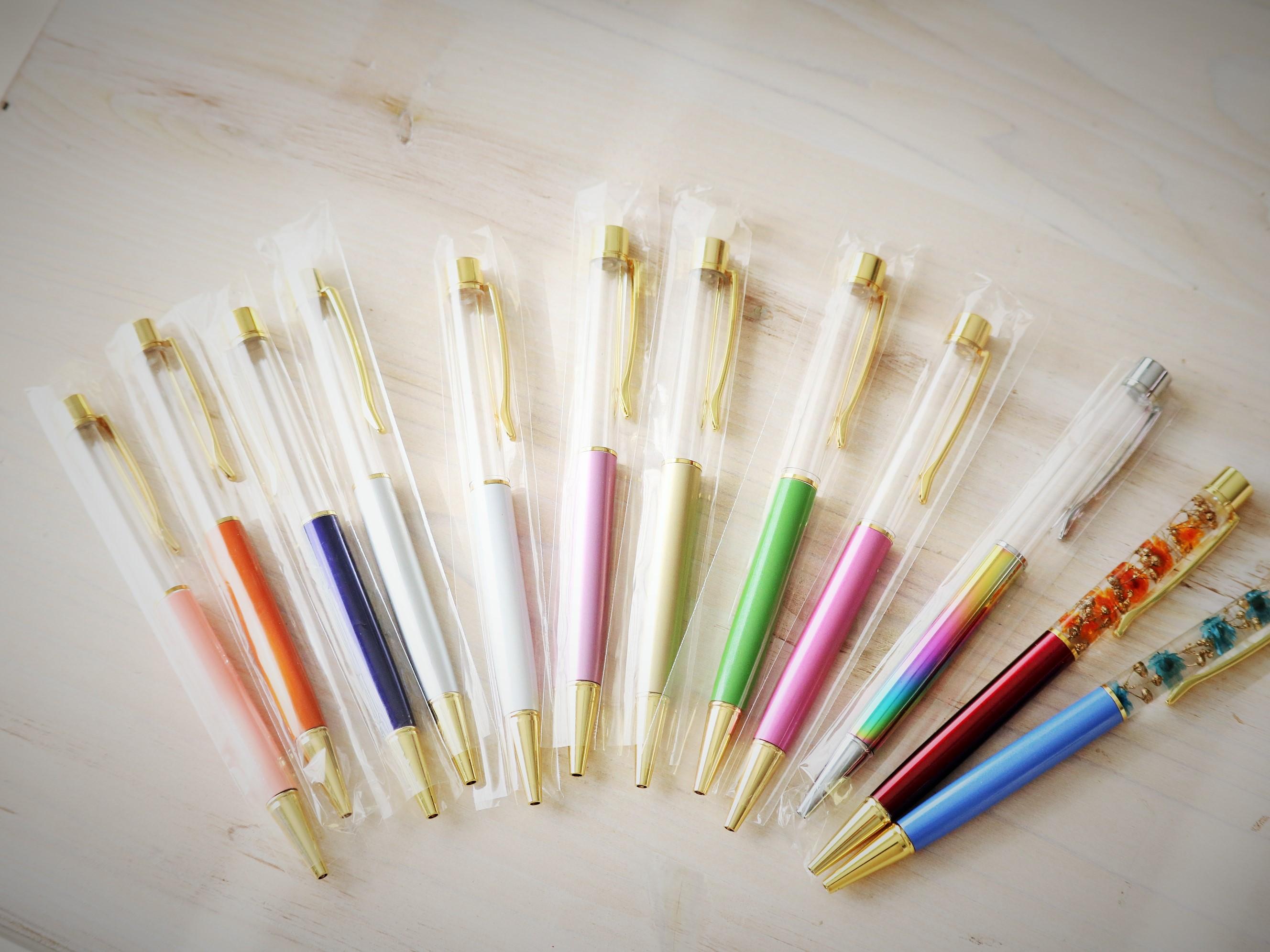 【人気!世界でたったひとつのハーバリウムボールペンを作ろう♪】 徳島藍の花&ティ...