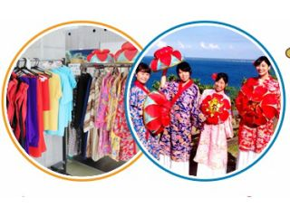 【琉球衣装体験】☆ワンコイン☆沖縄の伝統的な琉球衣装で記念撮影♪