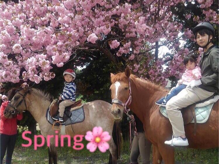 【外乗体験♪30分コース】 春の山の景色を楽しみながら馬とお散歩★カップルやファ...