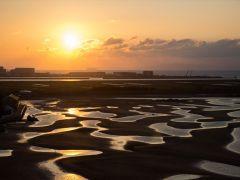 時間が合えば日本でも有数の干潟が露天風呂から見えます♪