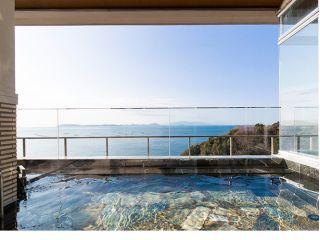 露天風呂から新舞子浜を眺めて
