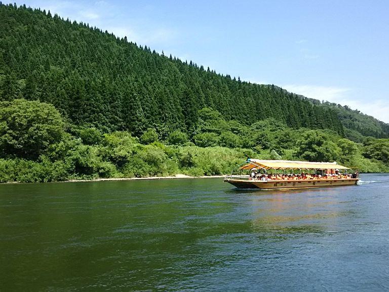 定期乗船プラン[古口港~草薙港・60分コース]最上川観光の