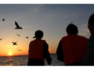 世界三大夕日【釧路の夕日】を鑑賞夕日のbestショットを船上から