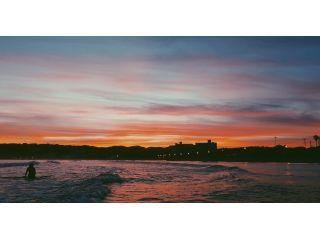 海の上から見る御宿ビーチの夕焼け☆