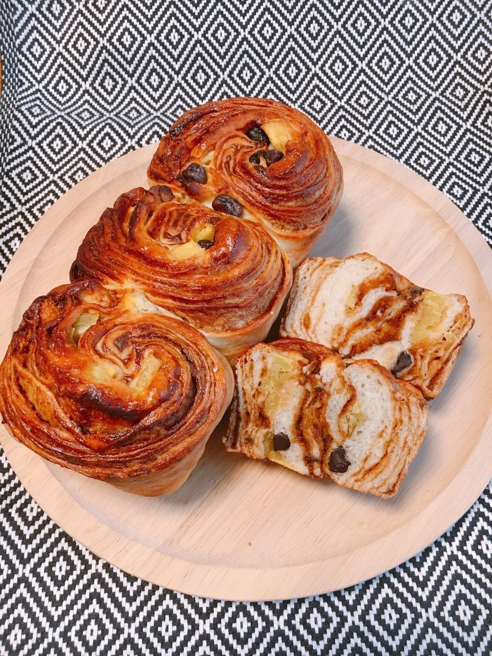 憧れのマーブル食パンを焼こう!!