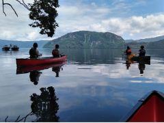 イトムカの入り江から保護区を見渡す。360°大自然! 人工物は一切ない原生のままの姿です。