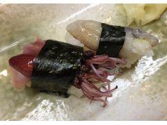 ちょい食べ1「季節のお寿司」ほたるいかなど季節のお寿司をちょい食べ!