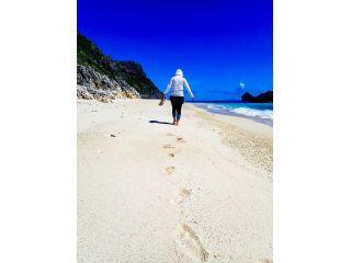 石灰岩でできた白いビーチ