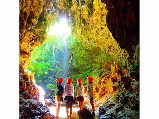 秘境体験!!!秘境パワースポット巡り&鍾乳洞探検(ケイビング)・西表島トレッキングツアー