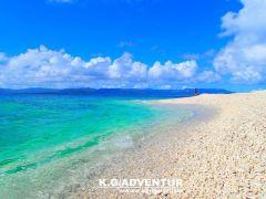 サンゴ礁のカケラで出来た奇跡のバラス島へ上陸! バラス島ウミガメと一緒に泳ぐシュノーケリング