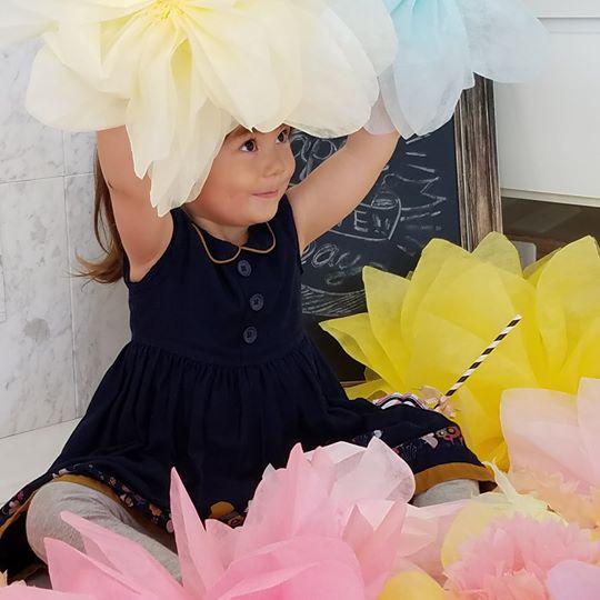 【フラワーラップで作るジャンボフラワー作り 所要時間60分】結婚式・お子様のお写...