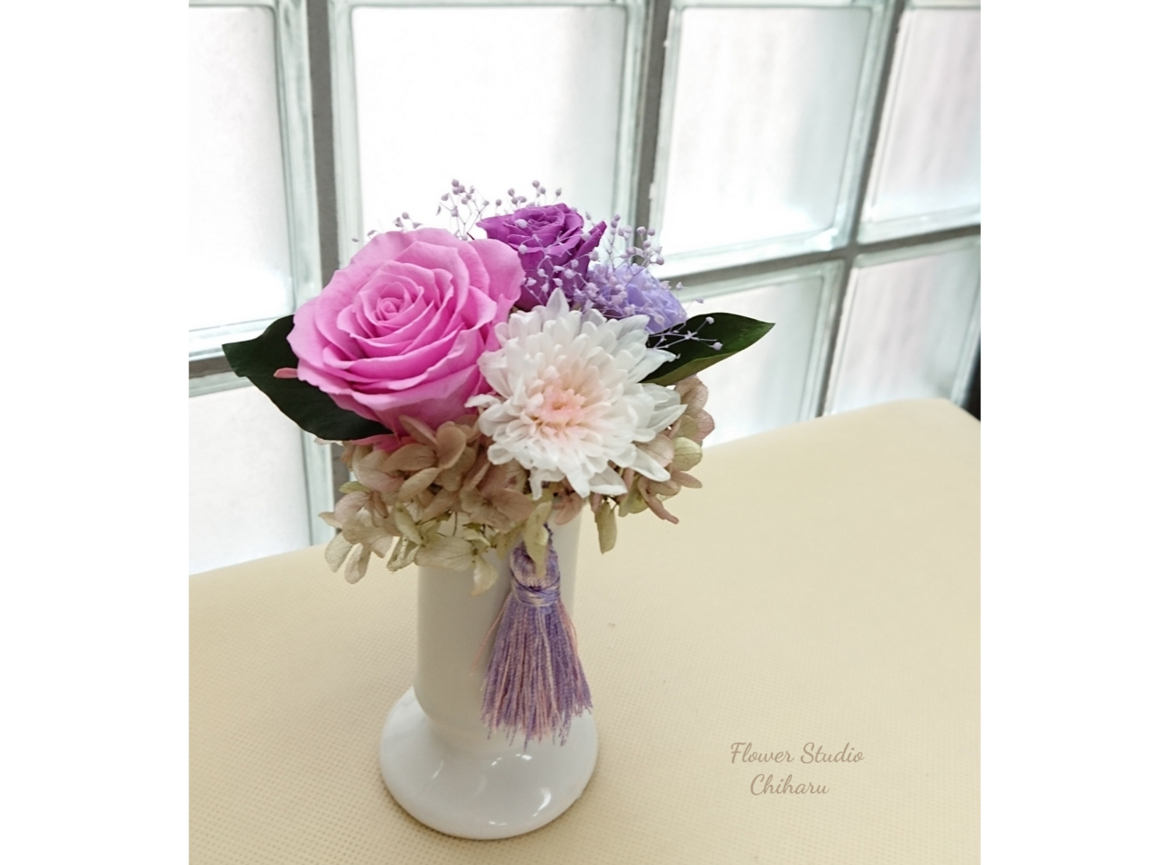 【ハンドメイド1Dayレッスン】プリザで作る枯れない仏花