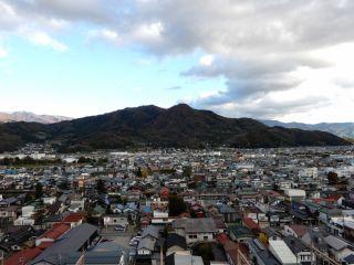 上山城展望台からの眺め