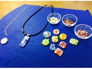 【熊本市北区・フードパル熊本こだわり工房内】イタリア製のベネチアンガラス(ミルフィヨリ)を使ったアクセサリーパーツ製作体験♪