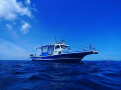 この青い船で出航します